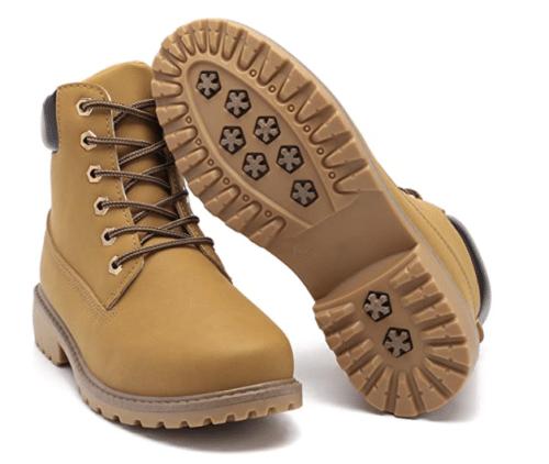 Geddard Waterproof Ankle Women Work Boot Low Heel Combat Boot