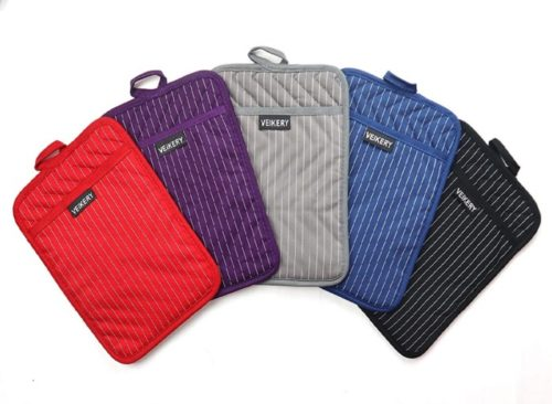 VEIKERY Pure Cotton Oven Hot Pads and Pot Holder Heat Resistant