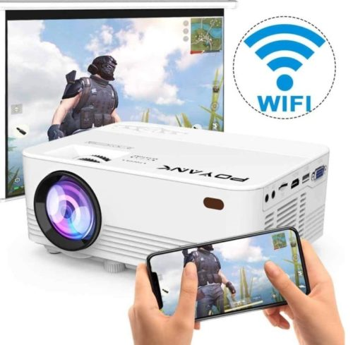 POYANK LED WiFi Best Projector Under 200 for Home Entertainment