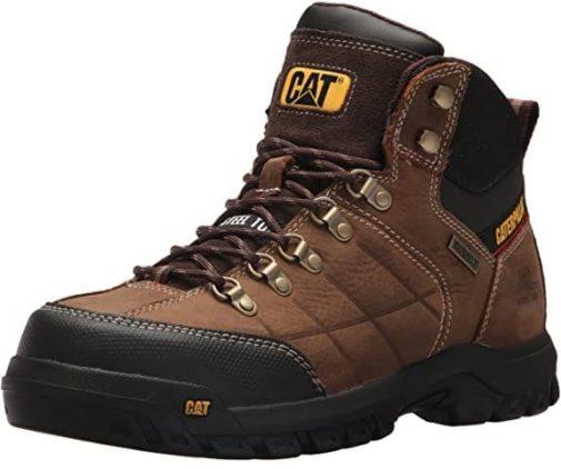 Caterpillar Waterproof Work Boots for Men with Comfortable Lightweight Steel Toe Boots