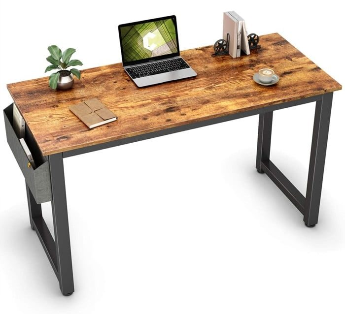 """Cubiker Computer Desk 47"""" Sturdy Office Desk Modern Simple Style Table for Home Office, Notebook Writing Desk with Extra Strong Legs"""