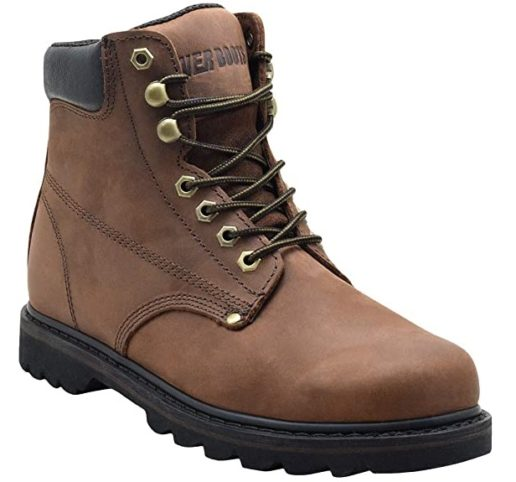 EVER BOOTS Tank leather Waterproof Work Boots for Men with Rubber Sole Waterproof Boots