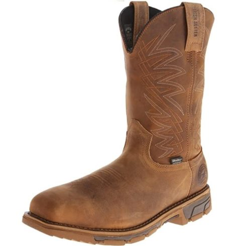 Irish Setter Lightweight Steel Toe Boots Pull-On Waterproof Work Boots for Men Top Rated Comfortable Work Boots