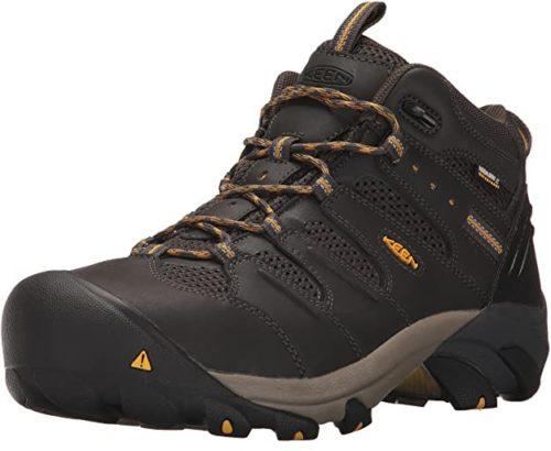 KEEN Waterproof Work Boots for Men Lansing Mid Waterproof Steel Toe Boots Very Good Waterproof Boots