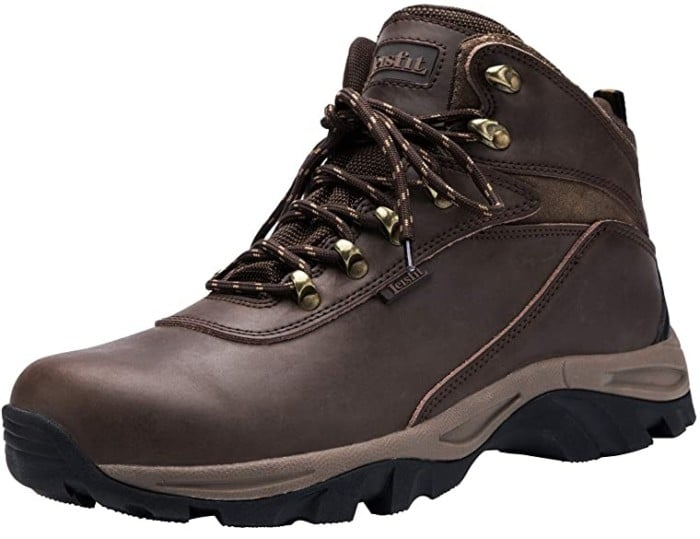 Leisfit Outdoor Waterproof Work Boots for Men, Comfortable Work Boots