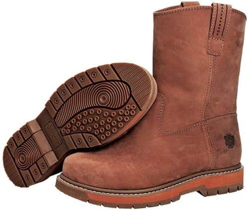 Muck Boots Wellie Medium Width Waterproof Work Boots for Men with Classic Soft Lightweight Steel Toe Boots