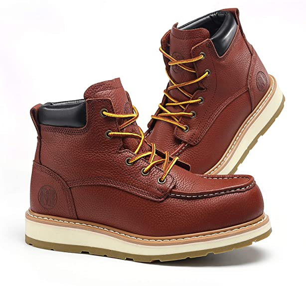 TIANXING Anti Puncture Men Waterproof Work Boots Moc Toe Work Boots