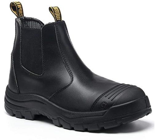 diig Lightweight Steel Toe Boots Slip On Men Waterproof Work Boots Most Comfortable Work Boots