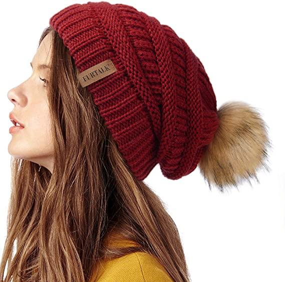 Furtalk Women's Winter Knit Slouchy Beanie