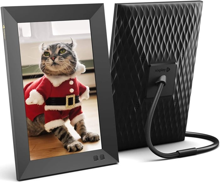 Nixplay Smart Digital Picture Frame 10.1 Inch, Share Video Clips and Photos Instantly via E-Mail or App