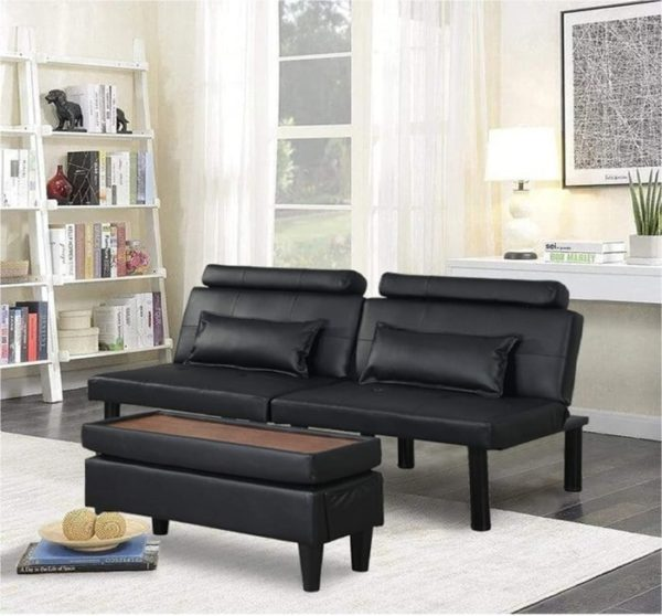 Bingtoo Sofa Guest Bed Couch with Convertible Futon and Storage