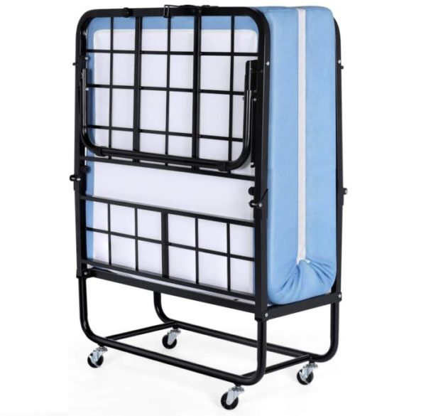 Inofia Portable Foldable Guest Bed with Foam Mattress