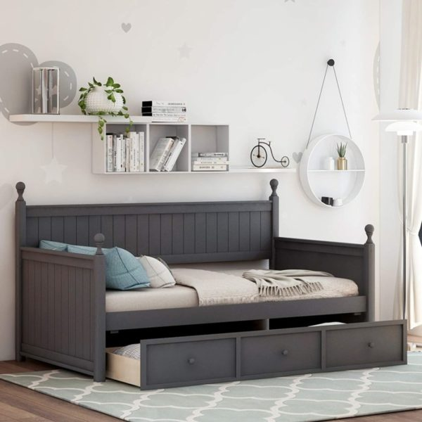 Meritline Wooden Twin Daybed with Storage