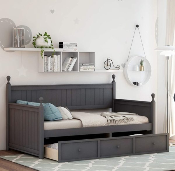 Silami Wooden Twin Daybed with Storage