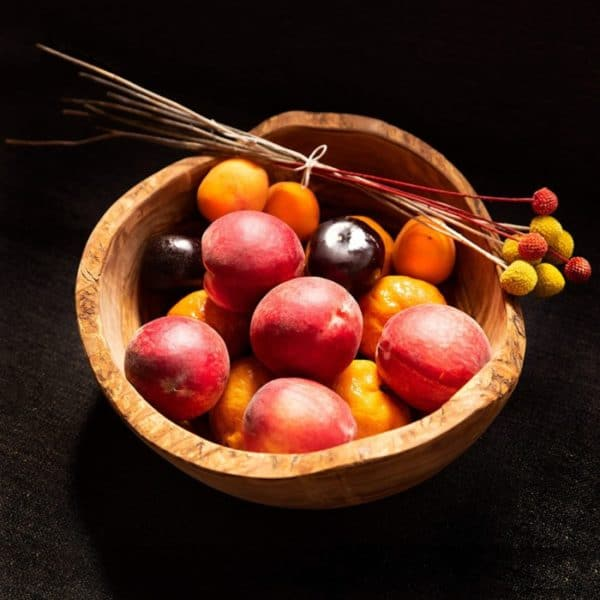 Thirteen Chefs Olive Wooden Fruit Bowl